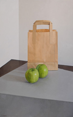 Apples with Brown Bag