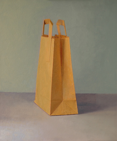 Brown Bag in Lamp Light