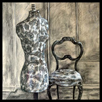 Drawings: Still Life Work; Image from Dressmaker's Stand and Chair