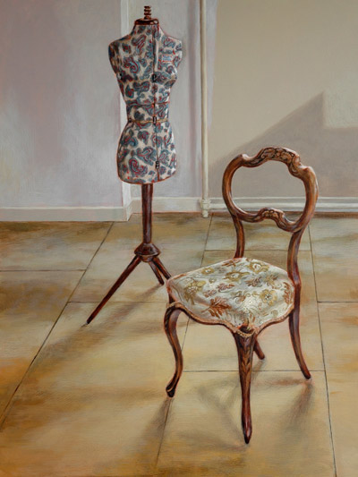 Dressmaker's Stand with Chair