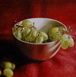 Still Life with Bowl of Grapes