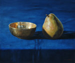 Still Life with Pear and Bowl