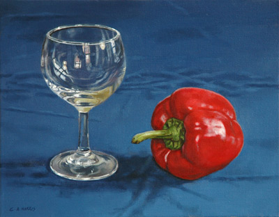 Still Life with Red Pepper