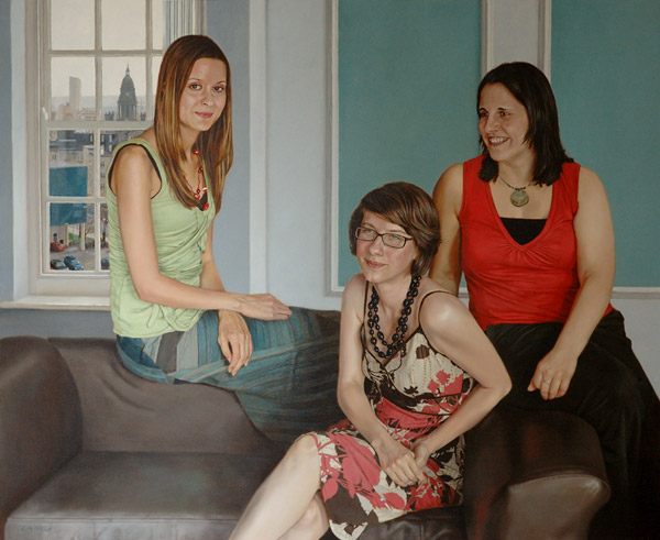 Portrait of Leanne Creighton, Louise Sweeney and Anne-Marie Watkinson