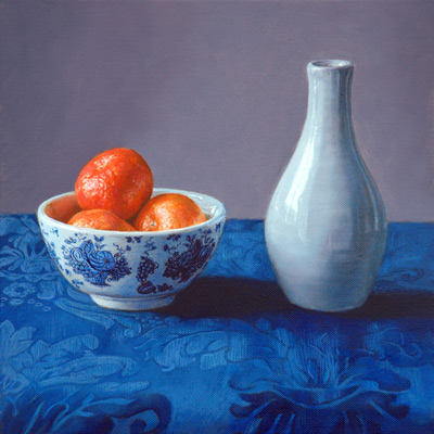 Still Life with Vase and Satsumas